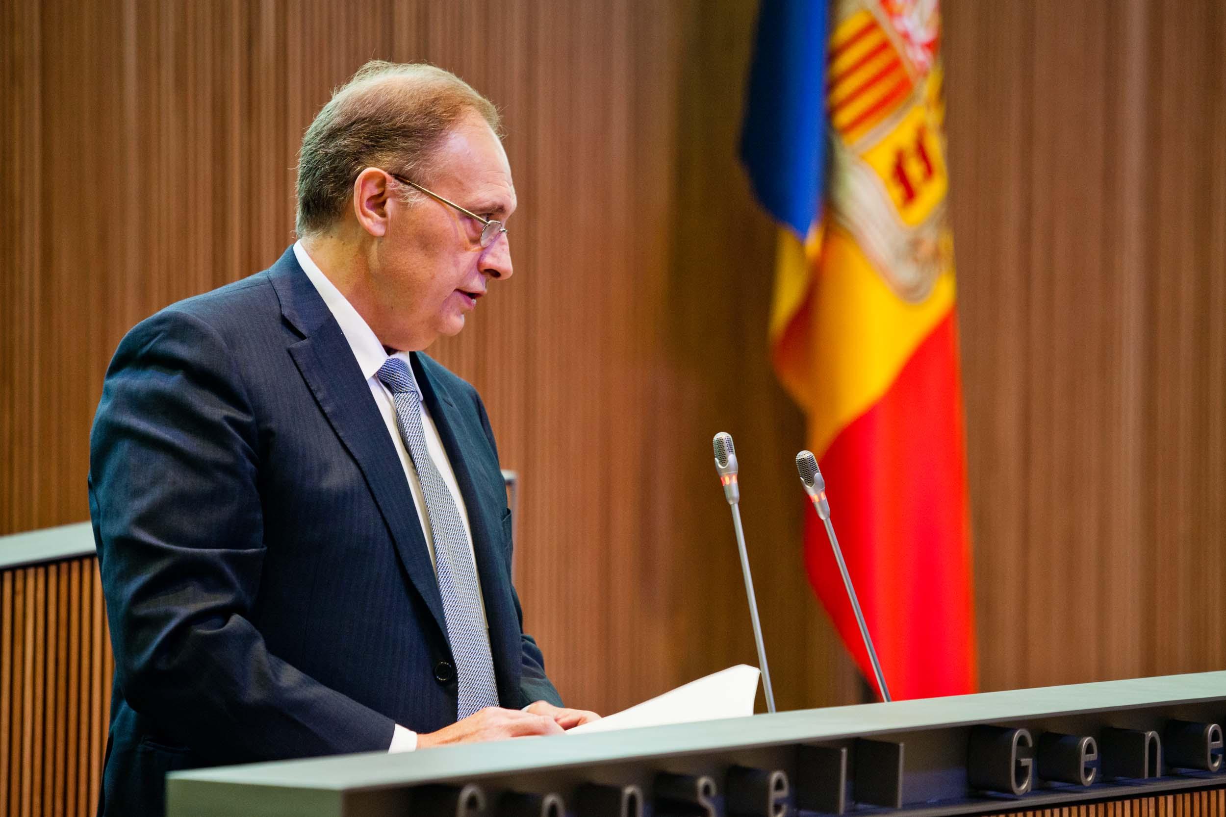 Intervenció de Josep Pintat, president del Grup Parlamentari Liberal