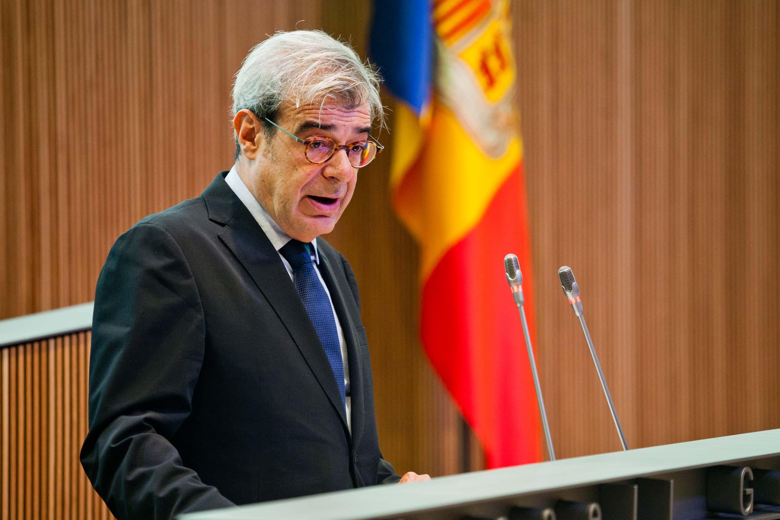 Intervenció de Ladislau Baró, president del Grup Parlamentari Demòcrata