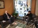 Trobada amb l'ambaixador de Turquia a Espanya i Andorra, Sr. Chihad Erginay