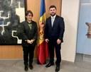 Visita de l'ambaixador de Montenegro, Sr. Ivan Ivanisevic.