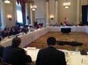 Participació de la delegació andorrana a l'Assemblea Parlamentària de la Francofonia davant de la Comissió Política i la Comissió d'Afers Parlamentaris.