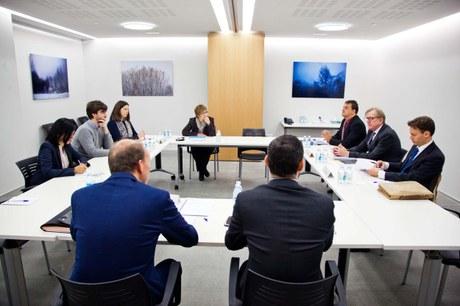 Visita de la Unió Europea (Claude Maerten) al partit Demòcrates per Andorra