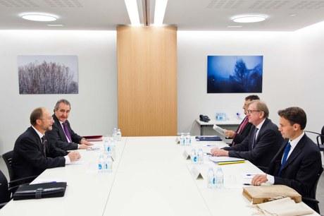 Visita de la Unió Europea (Claude Maerten) al partit Socialdemocràcia i Progrés