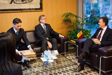 Visita de la Unió Europea (Claude Maerten) al síndic i subsíndica