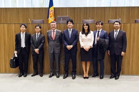 Visita del vice-ministre d'Afers Exteriors del Japó, Kentaro Sonoura